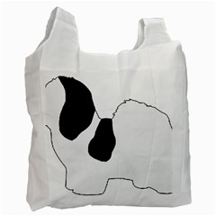 Coton De Tulear Silhouette Color Bw Recycle Bag (two Side)