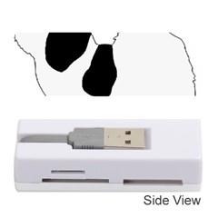 Coton De Tulear Silhouette Color Bw Memory Card Reader (stick)