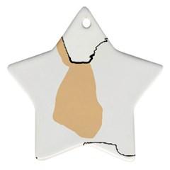 Coton De Tulear Silhouette Color Tri Ornament (star)