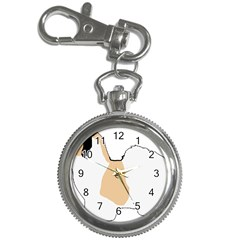 Coton De Tulear Silhouette Color Tri Key Chain Watches