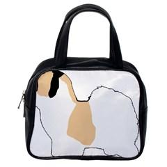 Coton De Tulear Silhouette Color Tri Classic Handbags (one Side)