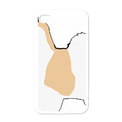 Coton De Tulear Silhouette Color Tri Apple Iphone 4 Case (white)