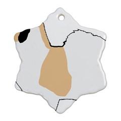 Coton De Tulear Silhouette Color Tri Ornament (snowflake)