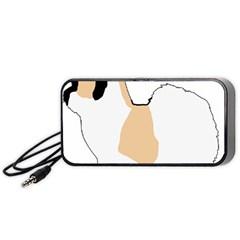 Coton De Tulear Silhouette Color Tri Portable Speaker (black)