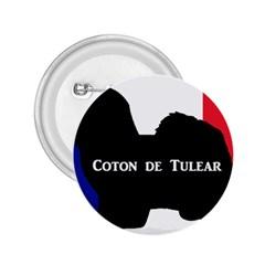 Coton De Tulear Silo Name France Flag 2 25  Buttons
