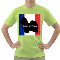 Coton De Tulear Silo Name France Flag Green T Shirt