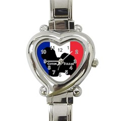 Coton De Tulear Silo Name France Flag Heart Italian Charm Watch
