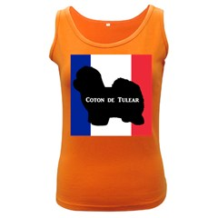 Coton De Tulear Silo Name France Flag Women s Dark Tank Top