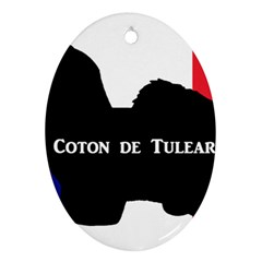 Coton De Tulear Silo Name France Flag Oval Ornament (two Sides)