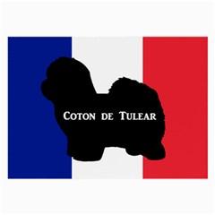 Coton De Tulear Silo Name France Flag Large Glasses Cloth