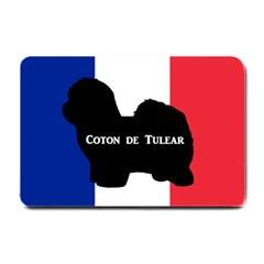 Coton De Tulear Silo Name France Flag Small Doormat