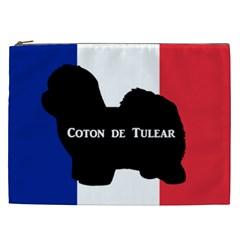 Coton De Tulear Silo Name France Flag Cosmetic Bag (xxl)