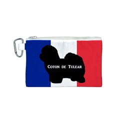 Coton De Tulear Silo Name France Flag Canvas Cosmetic Bag (s)