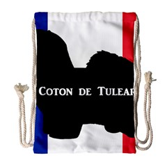 Coton De Tulear Silo Name France Flag Drawstring Bag (large)