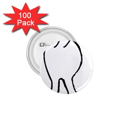 Coton Dog Butt 1 75  Buttons (100 Pack)