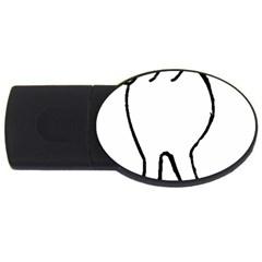 Coton Dog Butt Usb Flash Drive Oval (2 Gb)
