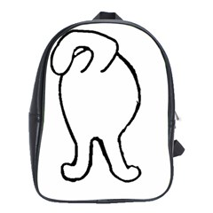 Coton Dog Butt School Bag (large)