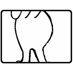Coton Dog Butt Double Sided Fleece Blanket (large)