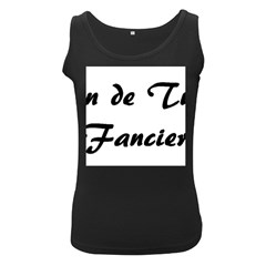 Coton Fancier Women s Black Tank Top