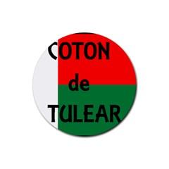 Coton Name Flag Madagascar Rubber Round Coaster (4 Pack)