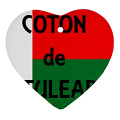 Coton Name Flag Madagascar Heart Ornament (two Sides)