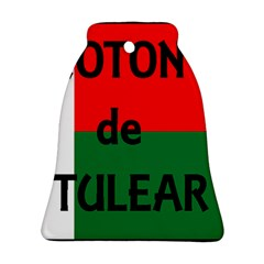 Coton Name Flag Madagascar Bell Ornament (two Sides)