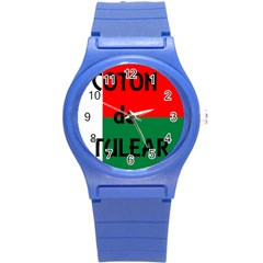 Coton Name Flag Madagascar Round Plastic Sport Watch (s)
