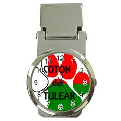 Coton Name Madagascar Paw Flag Money Clip Watches