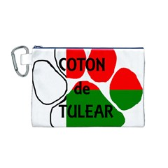 Coton Name Madagascar Paw Flag Canvas Cosmetic Bag (m)