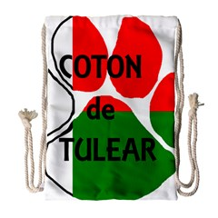 Coton Name Madagascar Paw Flag Drawstring Bag (large)