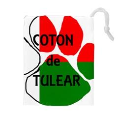 Coton Name Madagascar Paw Flag Drawstring Pouches (extra Large)