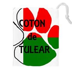 Coton Name Madagascar Paw Flag Drawstring Pouches (xxl)
