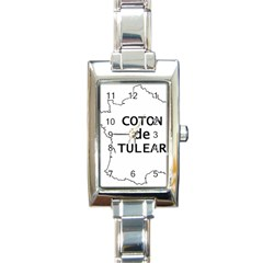 France Outline W Name Rectangle Italian Charm Watch