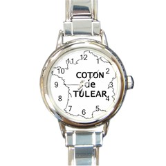 France Outline W Name Round Italian Charm Watch