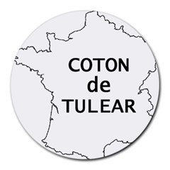 France Outline W Name Round Mousepads