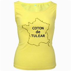 France Outline W Name Women s Yellow Tank Top