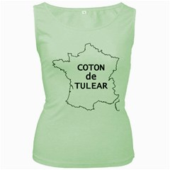 France Outline W Name Women s Green Tank Top