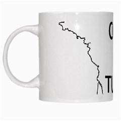 France Outline W Name White Mugs