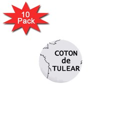 France Outline W Name 1  Mini Buttons (10 Pack)