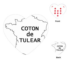 France Outline W Name Playing Cards (heart)