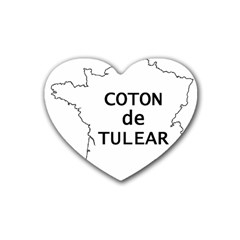 France Outline W Name Rubber Coaster (heart)
