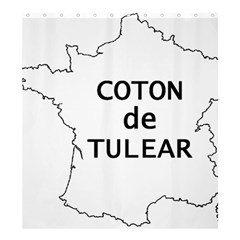 France Outline W Name Shower Curtain 66  X 72  (large)