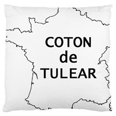 France Outline W Name Large Cushion Case (one Side)