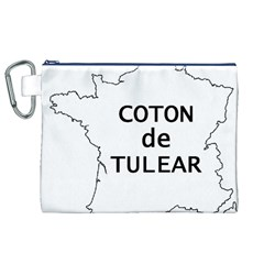 France Outline W Name Canvas Cosmetic Bag (xl)