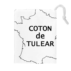France Outline W Name Drawstring Pouches (extra Large)