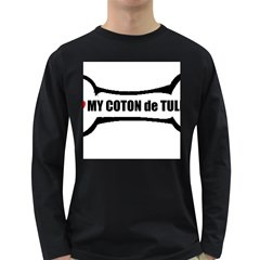 I Love My Coton Dog Bone Long Sleeve Dark T Shirts