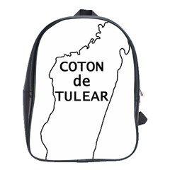 Madagascar Outline With Name School Bag (large)