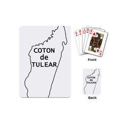 Madagascar Outline With Name Playing Cards (mini)