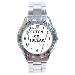 Madagascar Outline With Name Stainless Steel Analogue Watch