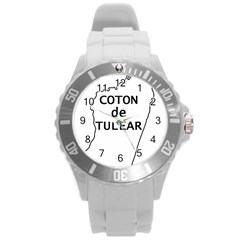 Madagascar Outline With Name Round Plastic Sport Watch (l)